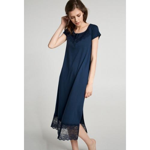Нічна сорочка ELLEN S  синя модал LND 276/002