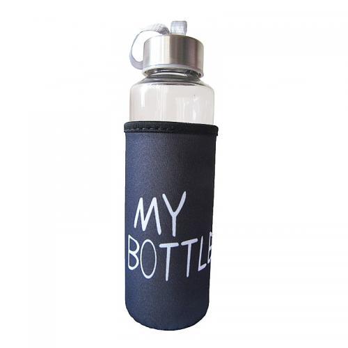 """Пляшка """"А-Плюс"""" скляна 0,4л.""""My bottle"""""""