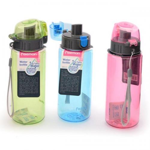 Пляшка для води Fissman 500 мл  зелена пластик 6845