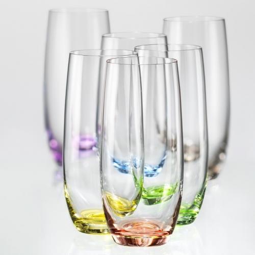 Набір Bohemia Rainbow склянок 350мл. високі скло СХ-25180/350 Чехія