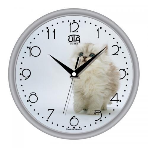 """Годинник UTA Classique 300*300*45мм.""""Сірий котик"""""""
