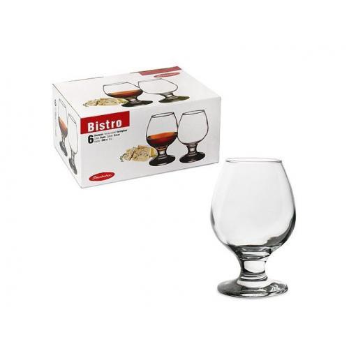 Набор бокалов для коньяка Pasabahce Bistro 6шт. 250мл. стекло СХ-44483 Турция