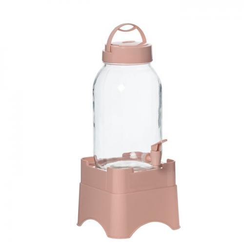 Диспенсер Herevin Beverage Pink 3л. на подставке стекло 137600-608 Турция Herevin