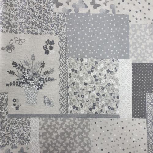 Комплект штор 1,35х1,75м. печворк Вантед натуральный 2шт. хлопок/полиэстр 157575 Испания Текстиль-контакт