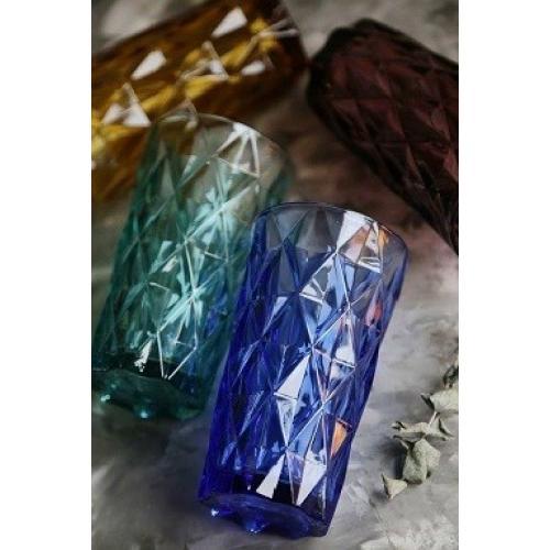 Набор стаканов 400мл. 4шт. цветные стекло GW-8544 Китай Olens