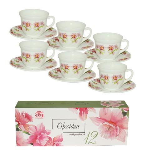 """Чайный набор """"Орхидея"""" 12 пр. S&T"""