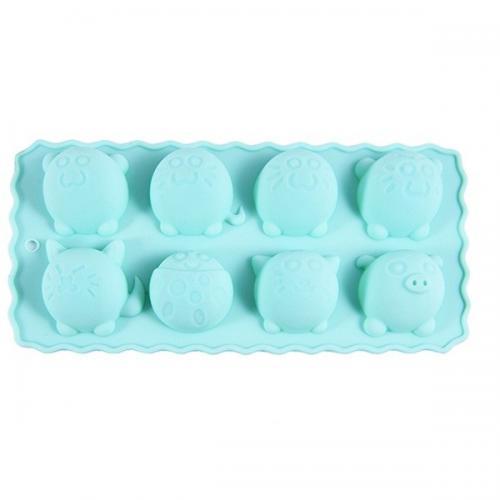 Форма для льоду та шоколаду Круглі звірята 22*10,5*2,8см. Fissman