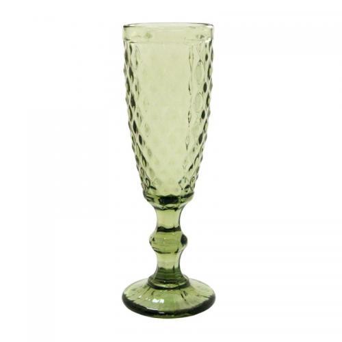 """Бокал для шампанского Olens """"Изумруд2"""" 150мл. зеленый 1шт. стекло СХ-34215-12-1 Китай"""