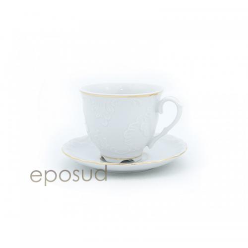 Чашка Cmielow Rococo 3604 кавова 170мл. з блюдцем ФС-0211777 Польща