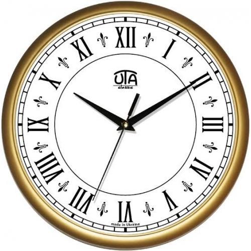 Годинник UTA Classique 300*300*45мм.(корич.римскі цифри)