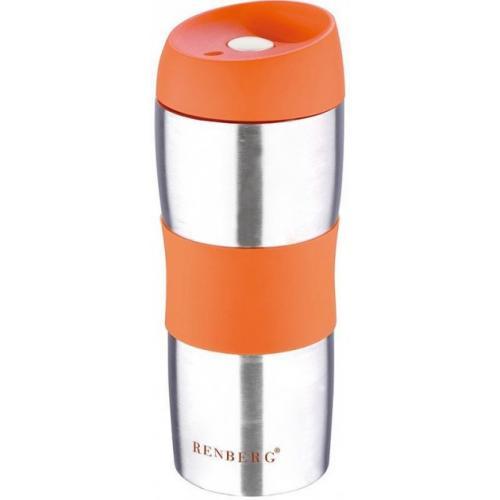 Термокухоль Renberg 450 мл  помаранчевий нержавіюча сталь RB-3020