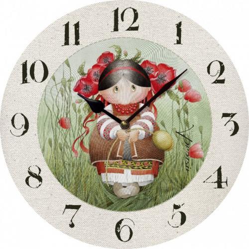 """Годинник UTA Art """"Засватана Маківка"""" дерево ЧА-PR-001 Україна"""