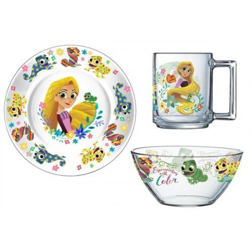 Детский набор Disney Рапунцель 3пред. ОСЗ стекло 9665742 Франция Luminarc