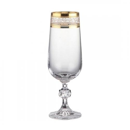 Набір бокалів Claudia gold д/шампанського 180мл.(43081) Bohemia