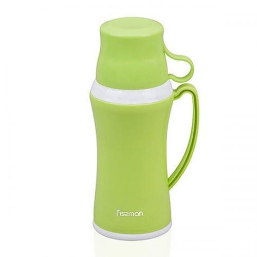 Термос Fissman 600мл. зелений (пластик, скло)