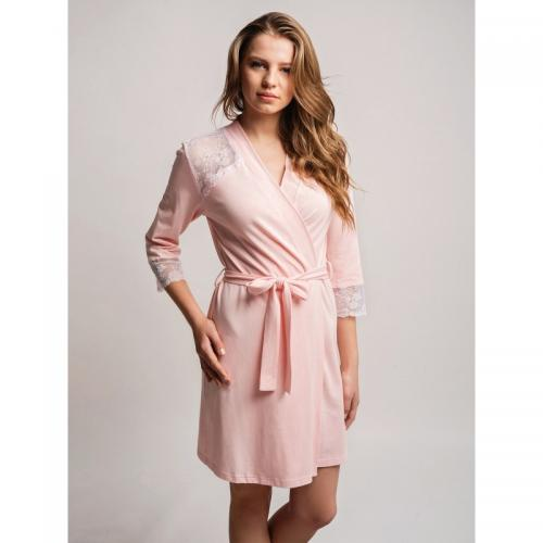 Халат ELLEN Fiorella L  розовый модал LND 081/002