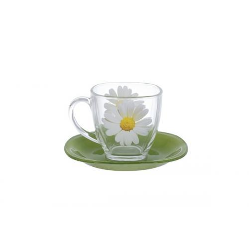 Чайный набор Luminarc Paquerette green 12пред. стекло N8508 Франция Luminarc