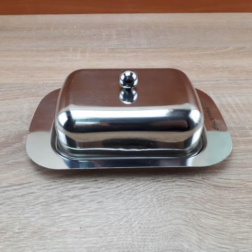 Масленка Kamille 18,5х12х7см. нержавеющая сталь КП-КМ-7006 Китай