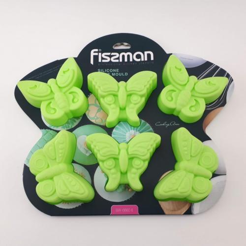 Форма для випічки Fissman  32,5х23х3,8 Бабочка силикон СЛ-BW-6660.6 Данія Fissman