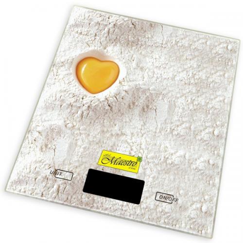 Весы Maestro кухонные 5кг.,шкала 1г. стекло/пластик КЗ-MR-1803 Китай