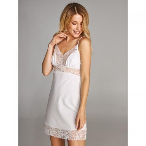 Нічна сорочка ELLEN L  біла модал LND 169/004