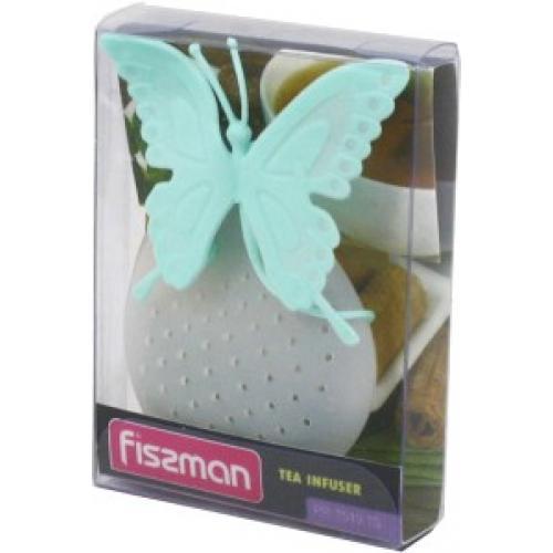 Ситечко Fissman для заварювання чаю Метелик 6 см  м'ятний силікон 7519