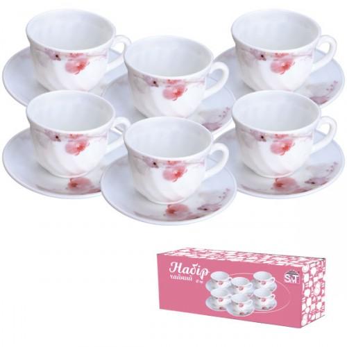 """Чайный Набор """"Рожева орхидея"""" 12пр.(61099) S&T"""