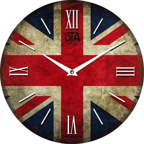"""Годинник UTA Vintage 330*27м.""""Англійський прапор"""""""