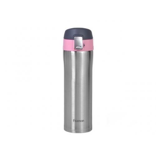 Термокухоль Fissman 420 мл  рожевий нержавіюча сталь 9819