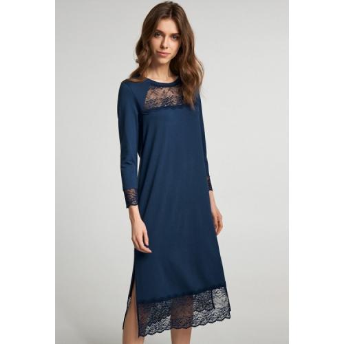 Нічна сорочка ELLEN M  синя модал LND 245/002