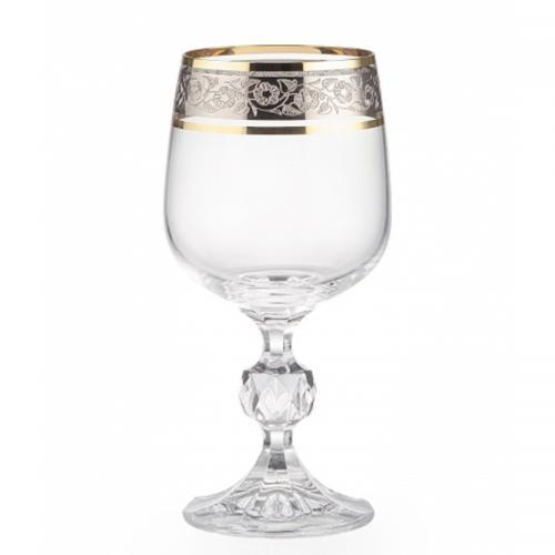 Набір бокалів Bohemia Claudia для вина 230мл.(золот.) 6шт. 166576 (43249) Bohemia, Чехія