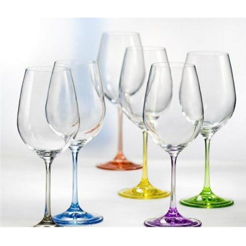 Набір бокалів Rainbow для вина 350мл.   Bohemia