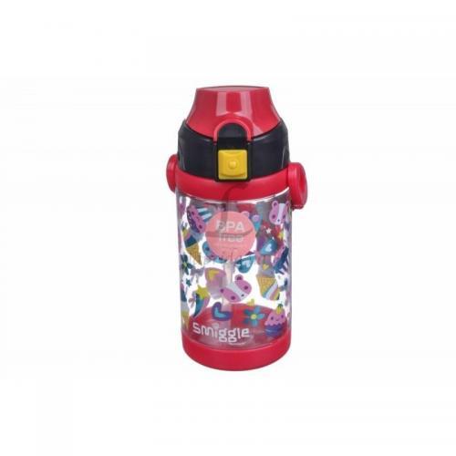 Бутылочка LaPrida Smiggle 450мл. красная 17,5х7х7см. пластмаса La Prida 61-391 Китай