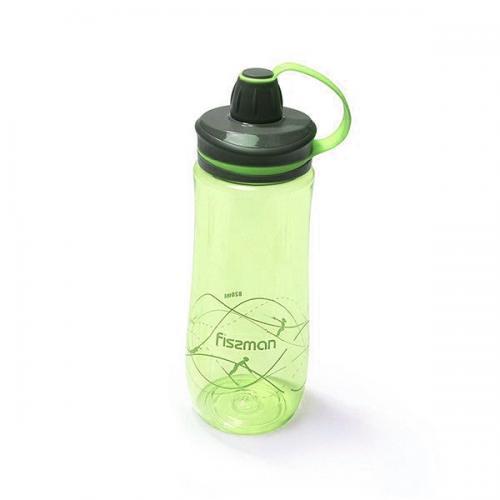 Пляшка для води Fissman 820 мл  жовта пластик 6849