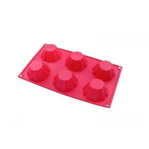 Форма S&T для кексов 6шт. силикон СЛ-20006 Китай